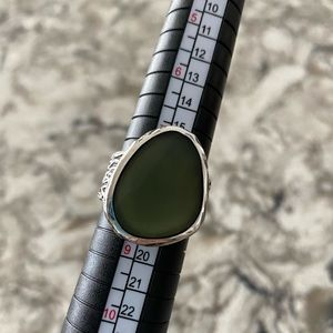Silpada luminous green glass ring